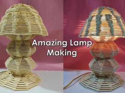 How to make Ice cream stick lamp || ice cream stick craft  ideas || Diy