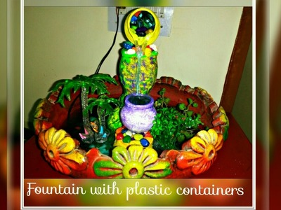 How To Make Indoor Fountain With Waste Plastic Containers