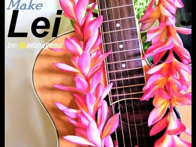 How to Make Lei Garland Plumeria Flower