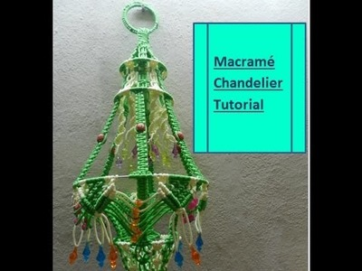HOW TO MAKE MACRAME JHUMAR.CHANDELIER - NEW DESIGN-COMPLETE STEP BY STEP TUTORIAL