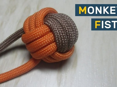 How to make Monkey's Fist (two color)