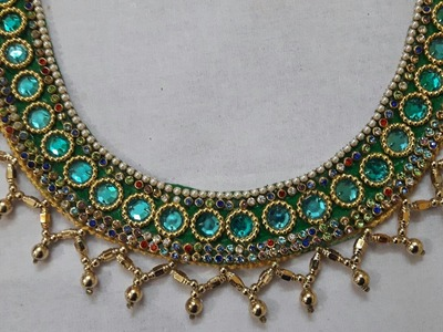 How to make MultiColour Designer Necklace trendy with beads handmade necklace ideas.necklace making