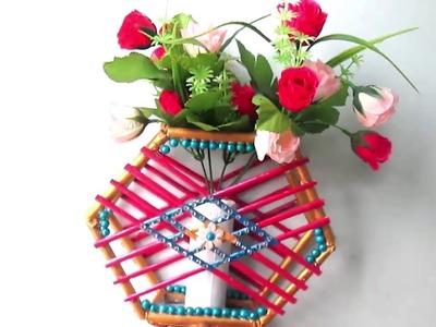 How To Make Newspaper  Flower Vase | DIY newspaper crafts || Best out of Waste || diy