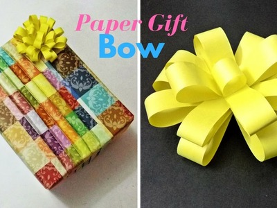 Awesome and Easy Paper Bow or Ribbon for gift box decoration ... | 300x400