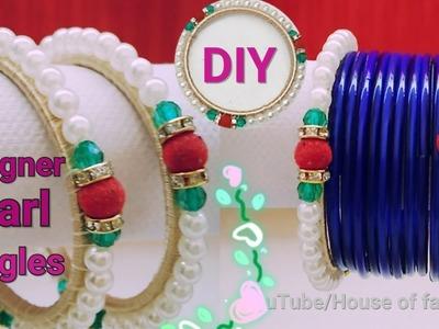 How To Make Pearl Bangles||Silk Thread Bangles||Wrapped Bangles