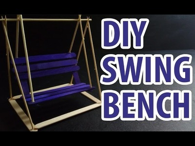 How to Make Popsicle Stick Swing Bench | DIY Project Playground Gear Lab