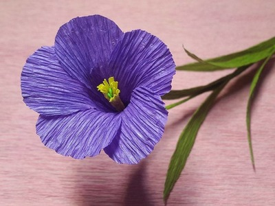 How to Make Purple Tuberose Paper flowers - Flower Making of Crepe Paper - Paper Flower Tutorial