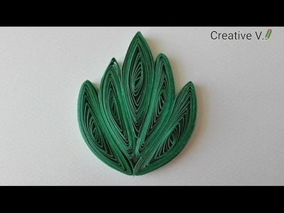 How to make Quilling Leaves. Tutorial 1