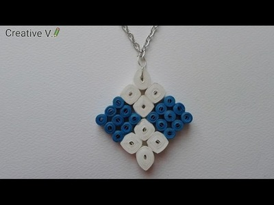 How to Make Quilling Paper Pendant. Tutorial