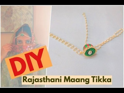 How to make Rajasthani Style Maang Tikka using Silk Thread | Jewelry Series | Craftziners # 71
