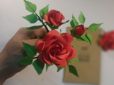 How to make realistic roses - Super Easy Way to Make A ' Real Rose ' From Paper - good luck for you