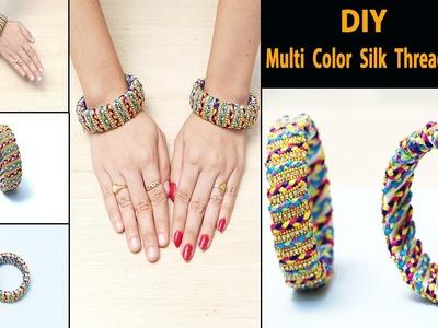 How to make Silk Thread Bangle making at Home | Multicolor Silk Thread Bangle | DIY Bangles