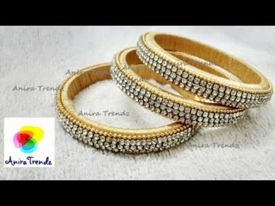 How to make Silk Thread Side Bangles Set Designer Bridal - Tutorial