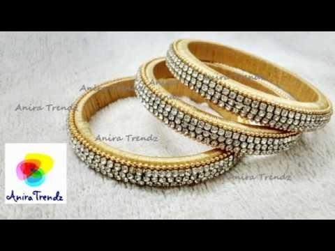How to make Silk Thread Side Bangles Set Designer Bridal - Tutorial