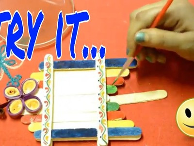 How to make Simple & Colorful Photo Frame || Popsicle Stick Photo Frame ||  Ice Cream Photo Frame