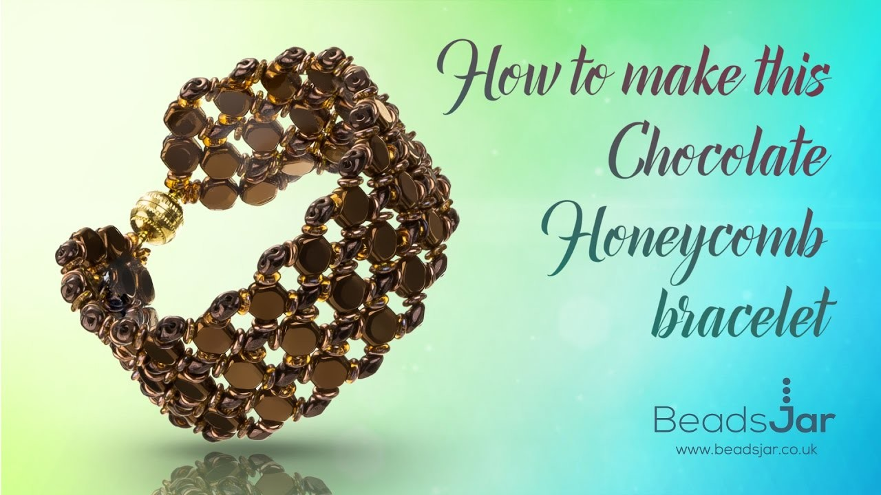 How to make this Chocolate Honeycomb Bracelet | Seed Beads