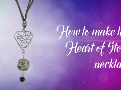 How to make this heart of stone beaded necklace | Stone Beads
