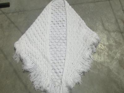 How to make Triangular shawl V shape [Hindi]