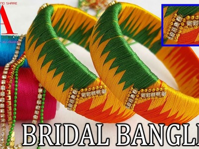 How to make zig zag weaving silk thread  bangles with multi colour silk thread
