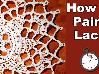 How to Paint Lace in Watercolor Time Lapse