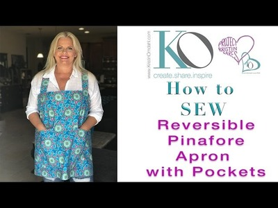 How to Sew Reversible Pinafore Apron with Deep Pockets Great Quick & Easy Gift
