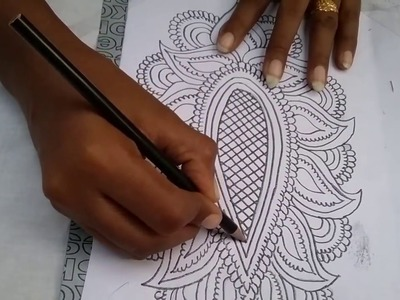 How to trace a design on fabric for painting.embroidery at home l DIY transforming design on fabric