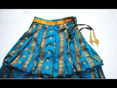 Kids skirt full   How to cut and sew skirt full for children  