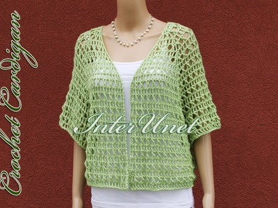Lace cardigan jacket crochet pattern – how to crochet a shrug