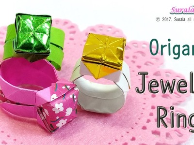 Origami - Jeweled Ring (How to make a paper ring)