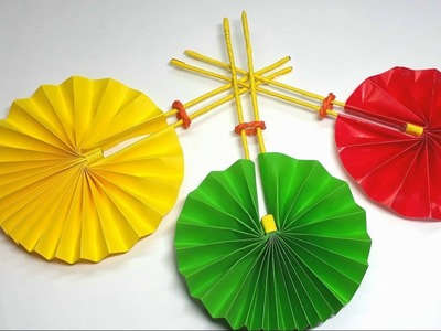 Origami Tutorial  - How to Fold an Origami Fan Easy - Crafts for all