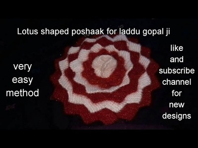 "Part 1.2.how to make​. Lotus.shape.dress.poshak.for.laddu gopal. kanha ji.Bal gopal.""hare Krishna"""