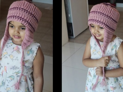 Part  1 How to Crochet ear flap cap for Baby