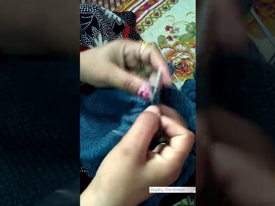 Part 2 - how to knit v-shape Neck for half sleeves sweater   full tutorial by woolen sweater designs