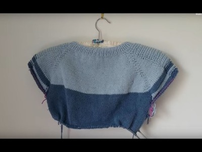 Part 5 Knitting tutorial for the Flax sweater