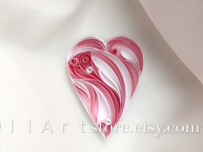 QllArt | Quilling heart | How to make quilling filigrane patterns