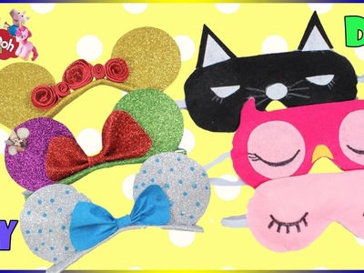 Sleep Mask DIY | Disney Princess Headband Compilation | How To Make  Eye Mask