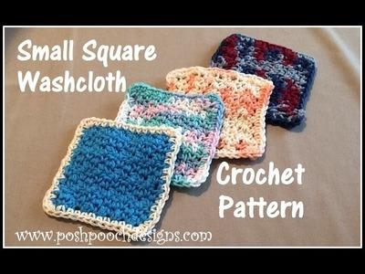 Small Square Washcloth Crochet Pattern