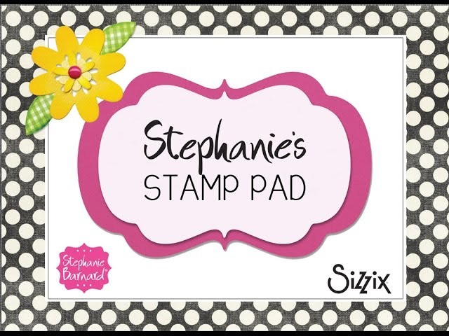 Stephanie's Stamp Pad #75 - How to Make a Friends Background Die Card