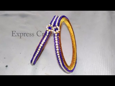 Stone bangle |Making silk thread bangles | How to make silk thread bangles at home