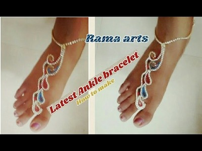 Stylish Ankle bracelet - how to make at home   jewellery tutorials