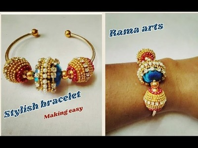 Stylish bracelet -How to make bracelet | jewellery tutorials