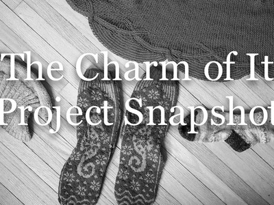 The Charm of It Knitting Podcast Episode 41: Project Snapshot of April 5th