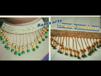 Trendy long chains necklace - How to make necklace | jewellery tutorials