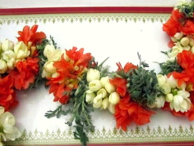 Tri Colour Flowers Garland || How to Tie fresh Flowers garland || Jasmine Garland