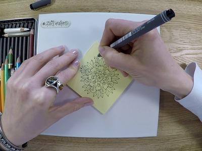 Amazingly simple mandala flower - how to draw freehand mandala