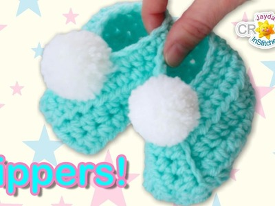 Classic Wrap-Style Baby Slippers - Crochet Pattern