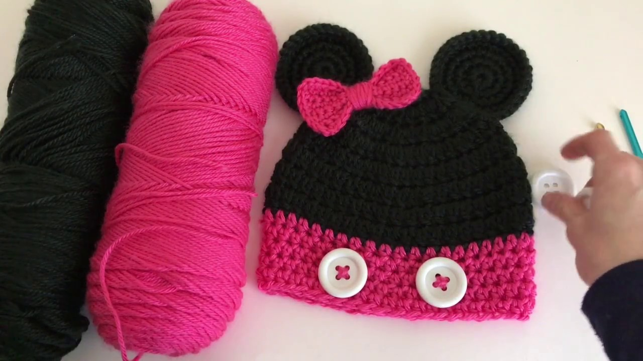 Crochet Minnie Mouse Hat Tutorial, My Crafts and DIY Projects