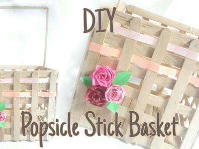 DIY | How To Make Popsicle Stick Basket