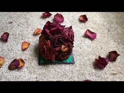 DIY How to preserve dried flower of bouquet from your loved one for ever