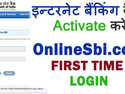How To Activate Online SBI Internet Banking - Live Example